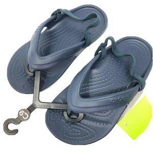 CROCS Toddler Size 6 Flip Flops back strap New